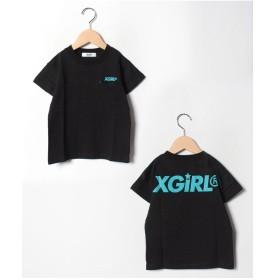 X-girl Stages 袖ラインスポーツTシャツ(ブラック)【返品不可商品】