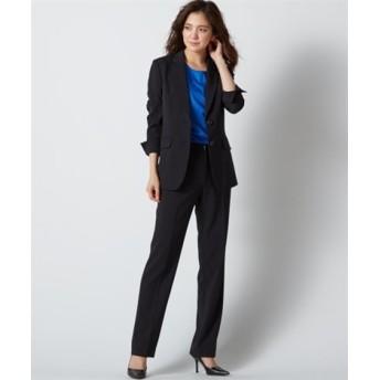 防汚加工すごく伸びるロング丈パンツスーツ(ストレッチ総裏地)【レディーススーツ】 (大きいサイズレディース)スーツ,women's suits ,plus size