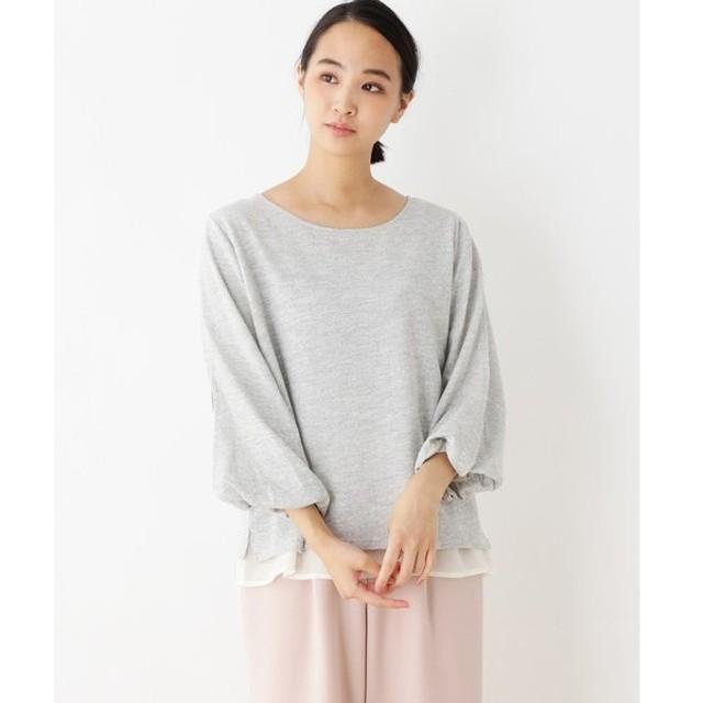 pink adobe / ピンクアドベ ツイード風 袖割れプルオーバー