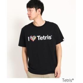 (THE SHOP TK/ザ ショップ ティーケー)Tetris(R)Tシャツ/メンズ ブラック×カラフルハート(319)