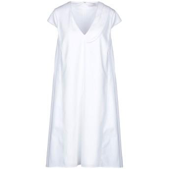 《セール開催中》CAPUCCI レディース ミニワンピース&ドレス ホワイト 40 コットン 97% / ポリウレタン 3%