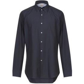 《期間限定 セール開催中》MICHAEL COAL メンズ シャツ ダークブルー 43 コットン 100%