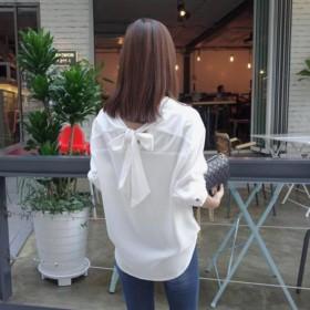 ブラウス - Miniministore ボウタイ シャツ リボン シャツ OL 白 トップス レディース 通勤 ブラウス おしゃれ