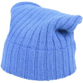 《期間限定セール開催中!》ARAGONA レディース 帽子 ブルー カシミヤ 100%
