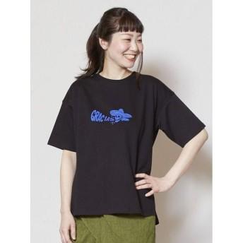 チャイハネ カラベラ柄Tシャツ CAS 9145 レディース ブラック Free 【CAYHANE】