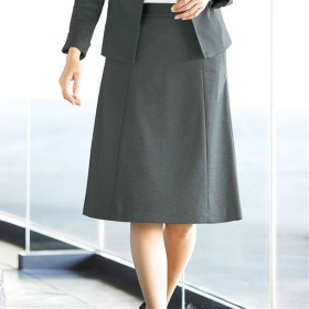 【レディース】 Aラインスカート(事務服) - セシール ■カラー:チャコールグレー ■サイズ:88-105,64-91,70-95,73-97,61-89,67-93,76-99