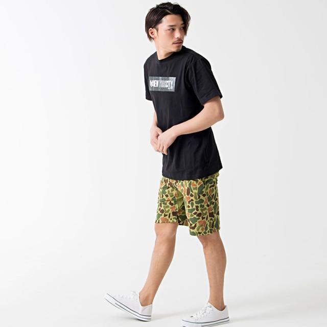 Tシャツ - SILVER BULLET Tシャツ メンズ 半袖 Majestic【マジェスティック】S/S BOX PRINT T/全2色【クルーネック トップスボックスロゴ プリント ヤンキース ニューヨーク ブランド ストリート ブラック ホワイト M L XL 夏 春