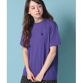 (WEGO/ウィゴー)WEGO/U.S. POLO ASSN.別注ワンポイントTシャツ/ユニセックス パープル系