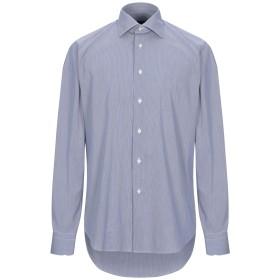 《期間限定セール開催中!》ZANETTI 1965 メンズ シャツ ダークブルー 39 コットン 70% / ナイロン 25% / ポリウレタン 5%