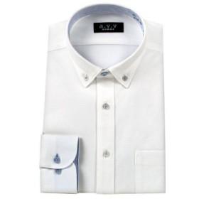 (YAMAKI official/山喜オフィシャル)a.v.v HOMME 長袖 ショートカラーワイドカラーボタンダウンワイシャツ/メンズ その他