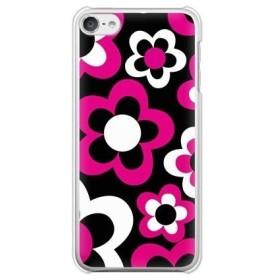 ガールズネオ apple iPod touch 第6世代 ケース (レディフラワー/ピンク×黒) Apple iPodtouch6-PC-COM-0124