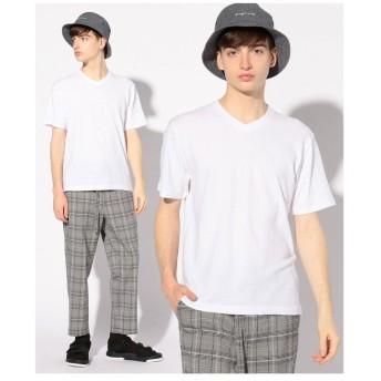 メンズビギ グレンチェックジャガードTシャツ メンズ ホワイト S 【Men's Bigi】