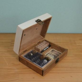 白×木の木製金庫【受注生産】イベントやフリマ用レジや自宅用金庫で小銭管理を♪