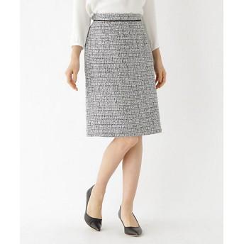 <INDIVI/インディヴィ> ツイードAラインスカート(2001491660) クロ【三越・伊勢丹/公式】