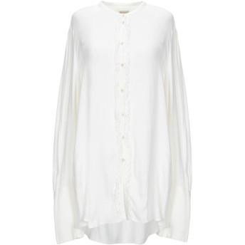 《セール開催中》MASSIMO ALBA レディース シャツ ホワイト L ウール 85% / レーヨン 15%