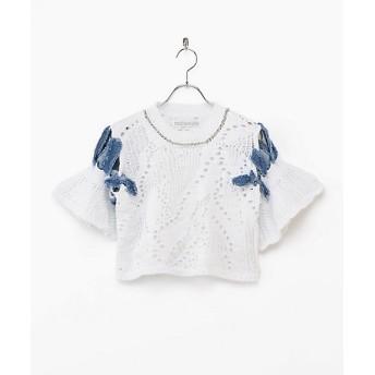 <malamute/マラミュート> ripped necklace knit(mlm19SS-KN02) WHITE 【三越・伊勢丹/公式】