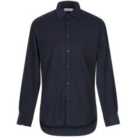 《期間限定セール開催中!》AGLINI メンズ シャツ ダークブルー 40 コットン 100%