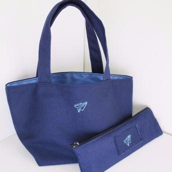 [バッグ+箸バッグ]紙飛行機フライハイコンビネーション/ランチバッグポータブル収納袋ユニバーサル収納袋雑貨バッグアウトライトバッ