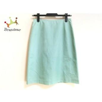 カルバンクライン スカート サイズ2 M レディース 美品 ライトグリーン×グレー チェック柄   スペシャル特価 20190902