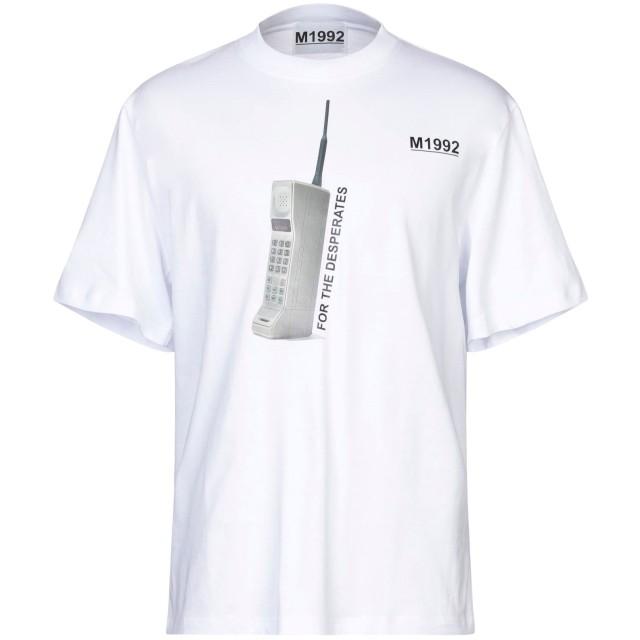 《期間限定セール開催中!》M1992 メンズ T シャツ ホワイト M コットン 100%