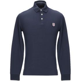 《セール開催中》ITALIAN RUGBY STYLE メンズ ポロシャツ ダークブルー M コットン 97% / ポリウレタン 3%