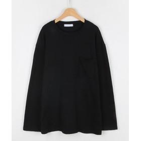 (3rd Spring/サードスプリング)MICHYEORA(ミチョラ)胸ポケットTシャツ-/レディース ブラック
