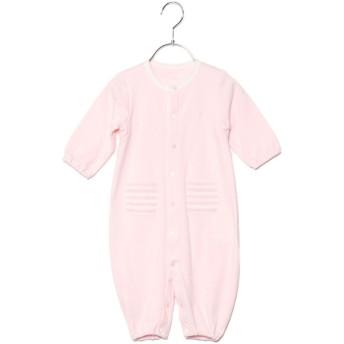コムサイズム COMME CA ISM 羽根刺繍 長袖ツーウェイオール (ピンク)