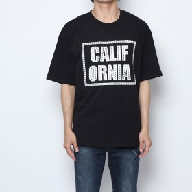 スタイルブロック STYLEBLOCK ラインストーンプリントビッグTシャツ (ブラックB)