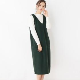 [マルイ]【セール】ツイード風ジャンパースカート+リブニットソー/ピンクアドベ(pink adobe)