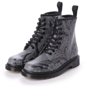 ドクターマーチン Dr. Martens 1460 OT ASIA TATOO 8 EYE BOOT (BLACK GUNMETAL OT TATTO BACKHAND)