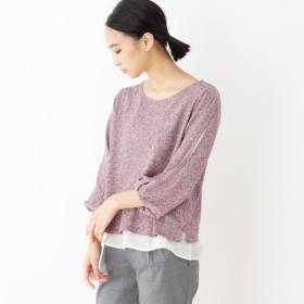 [マルイ]【セール】ツイード風 袖割れプルオーバー/ピンクアドベ(pink adobe)