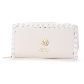 プリムヴェールリズリサ Primevere LIZ LISA リジシリーズ ラウンドファスナー長財布 (ホワイト)