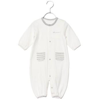 コムサイズム COMME CA ISM 羽根刺繍 長袖ツーウェイオール (ホワイト)