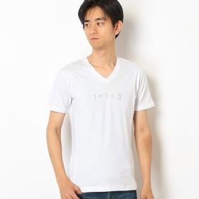 [マルイ]【セール】【1PIU1UGUALE3RELAX】ラインストーン113ロゴVネックTシャツ/アドポーション(ADOPOSION)