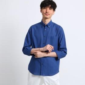 [マルイ]【セール】綿麻 シャドー ストライプ 七分袖 シャツ/タケオキクチ(TAKEO KIKUCHI)