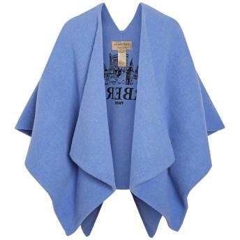 Burberry エンブロイダリー ケープ - ブルー