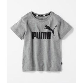 PUMA ロゴプリントTシャツ キッズ グレー