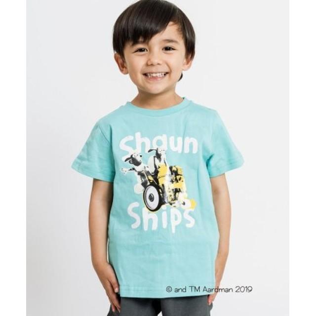 (SHIPS KIDS/シップス キッズ)SHIPS KIDS:【ひつじのショーン】<MAYHEM IN THE MEADOW!>Tシャツ(100-130cm)/レディース ライトブルー
