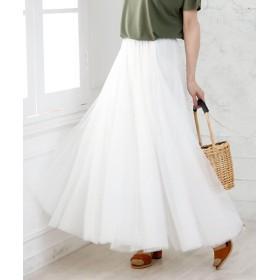 ガーリードール チュールロングスカート レディース ホワイト 70cm 【Girly Doll】