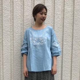 デニムシャツ - Ichika 刺繍デニムプルオーバー5S