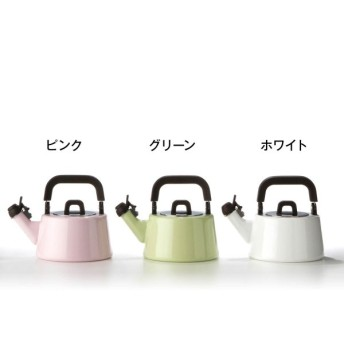 """ホーロー 笛吹き""""フィーカ ハーモニカケトル"""" <1L> IH対応[日本製] カラー 「グリーン」"""