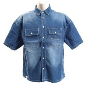 VISION ワッペンワークシャツ 9523129-63BLU (Men's)