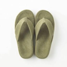 パイル素材が心地よい足裏フィットスリッパ 「グリーン」