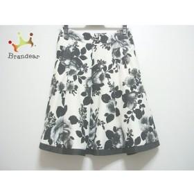 エムズグレイシー M'S GRACY スカート サイズ38 M レディース 白×黒×グレー    値下げ 20190825