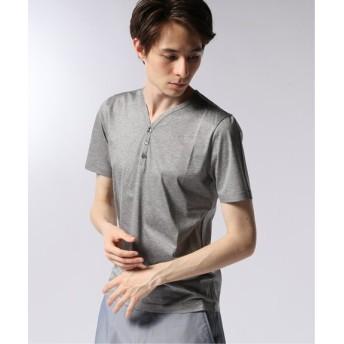EDIFICE CITA / チータ ヘンリーネックTシャツ グレーA 48