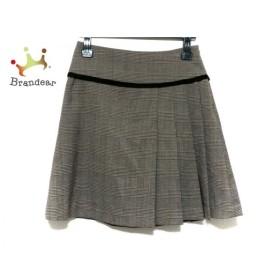 ホコモモラ JOCOMOMOLA スカート サイズ40 XL レディース ダークブラウン×ベージュ×グリーン  値下げ 20190819