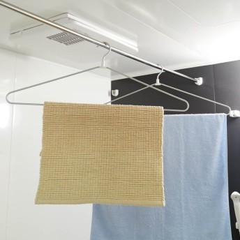 浴室乾燥機でも使えるアルミのバスタオルハンガー2本セット カラー