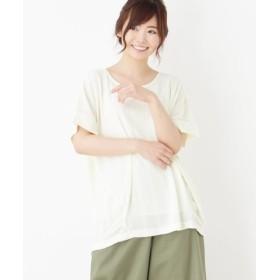 ピンクアドベ ゆるシルエット半袖カットソー レディース オフホワイト(003) 38(M) 【pink adobe】