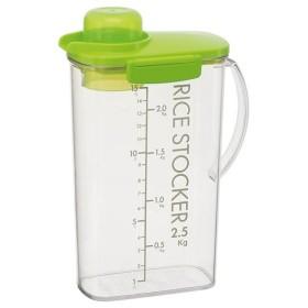 冷蔵庫で保存できる計量カップ付ライスストッカー 2.5kg カラー