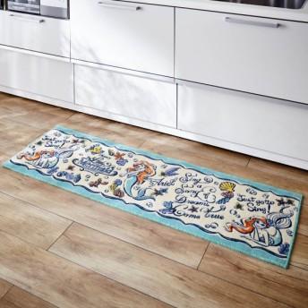 キッチンマット ディズニー 抗菌防臭加工のキッチンマット アリエル 約45×120